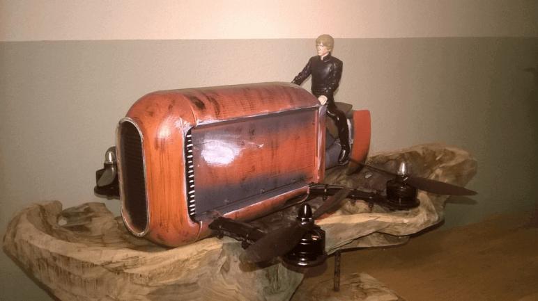 Image of Star Wars 3D Models to 3D Print: Rey's Speeder Bike Quadcopter