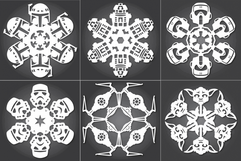 image of star wars 3d models to 3d print star wars snowflakes