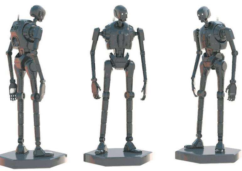 Image of Star Wars 3D Models to 3D Print: K-2SO