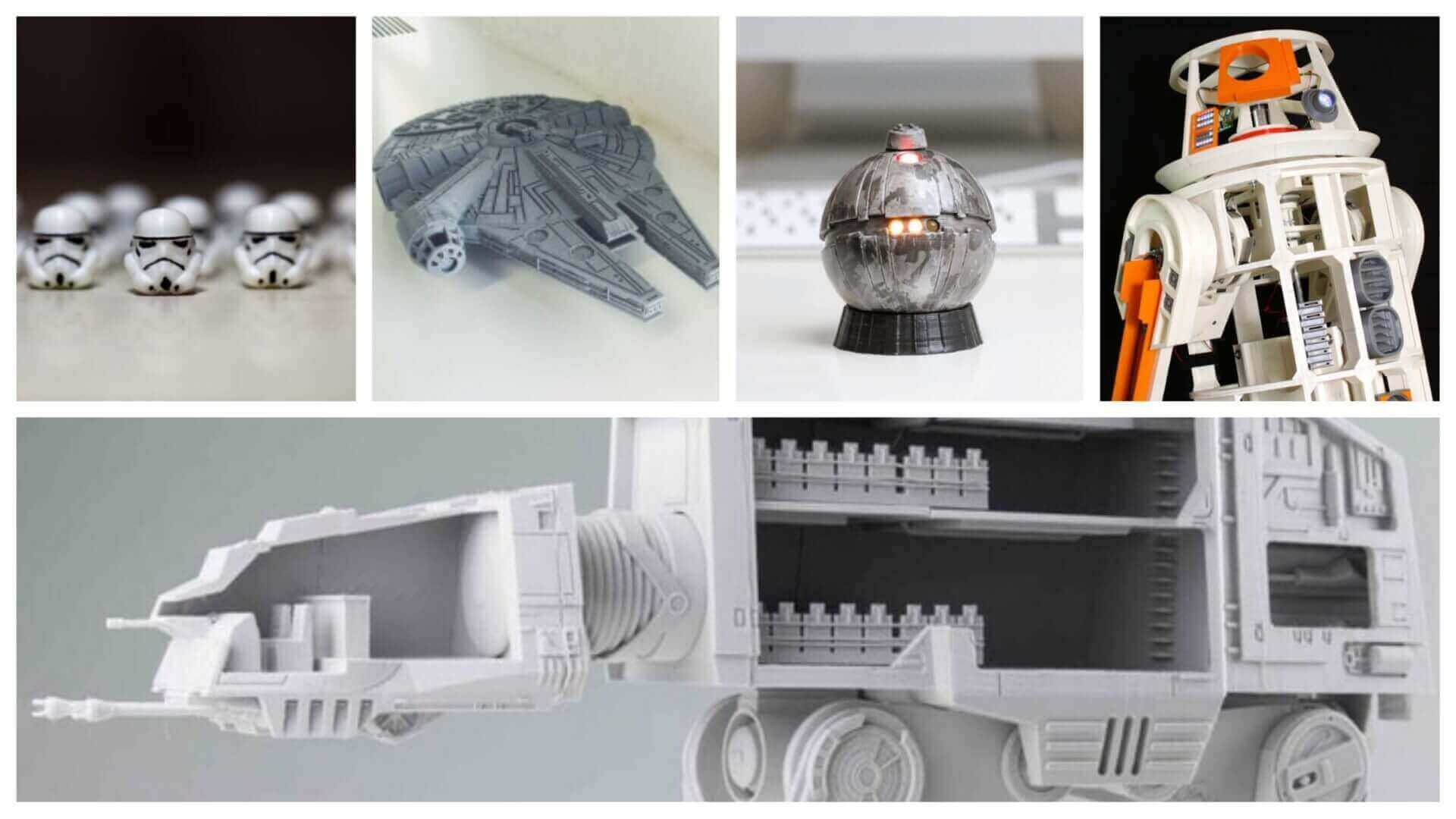 image about Free 3d Printable D&d Miniatures identified as 45 Epic Star Wars 3D Designs toward 3D Print All3DP