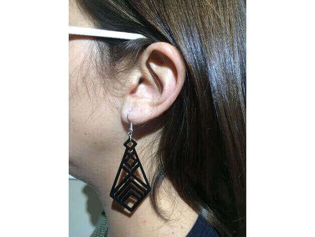 Image of 3D Printed Jewlery: Simple Earrings