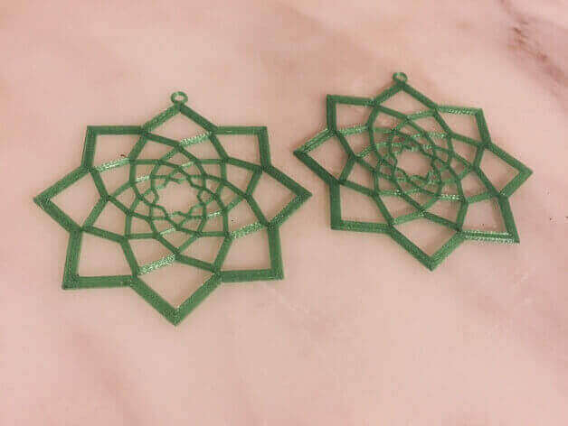 Image of 3D Printed Jewlery: Geometric Flower