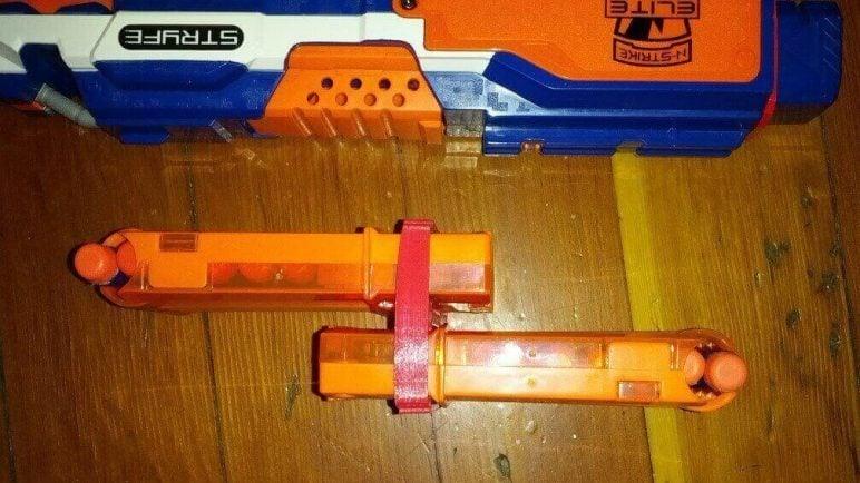 Image of 3D Printed Nerf Gun Parts, Mods & Attachments: Clip Coupler