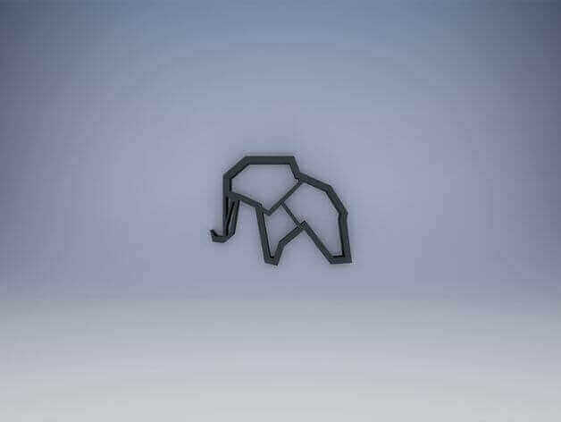 Image of 3D Printed Jewlery: Elephant Necklace