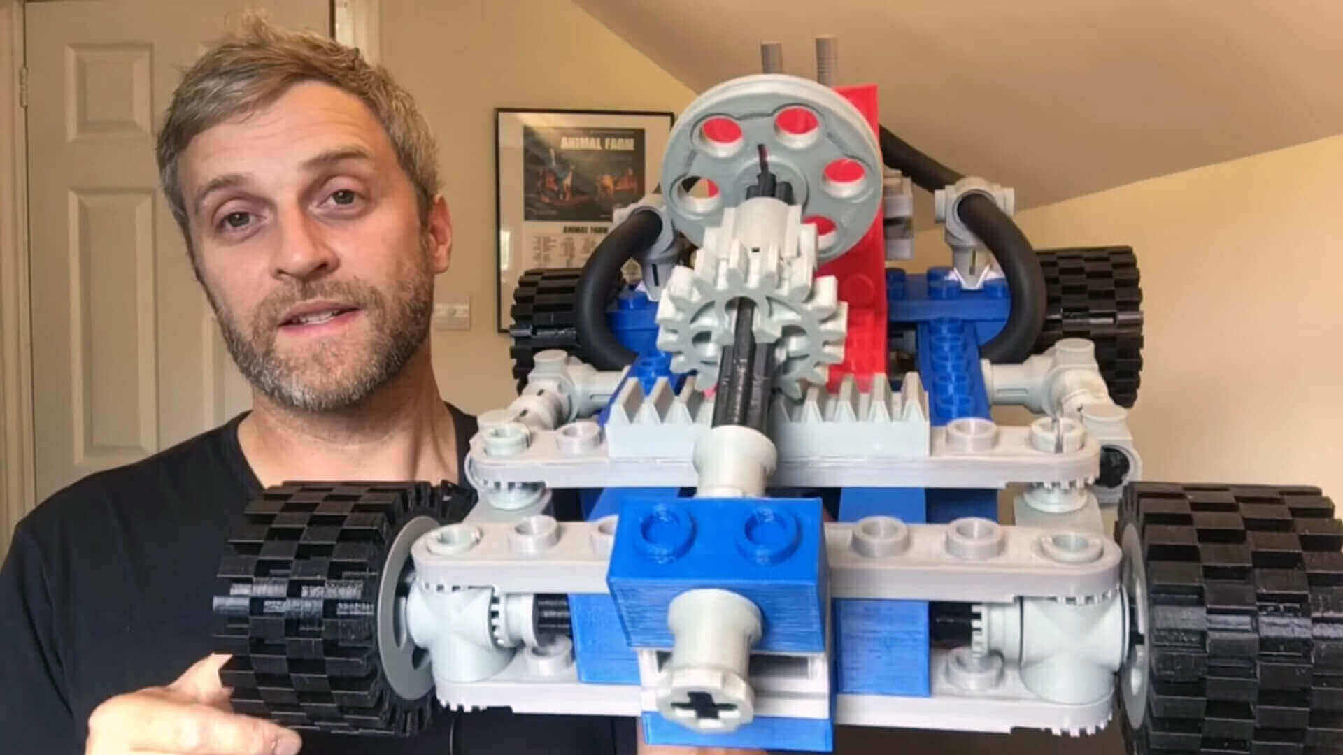 Watch this YouTuber Assemble a Giant 3D Printed Lego Go-Kart | All3DP