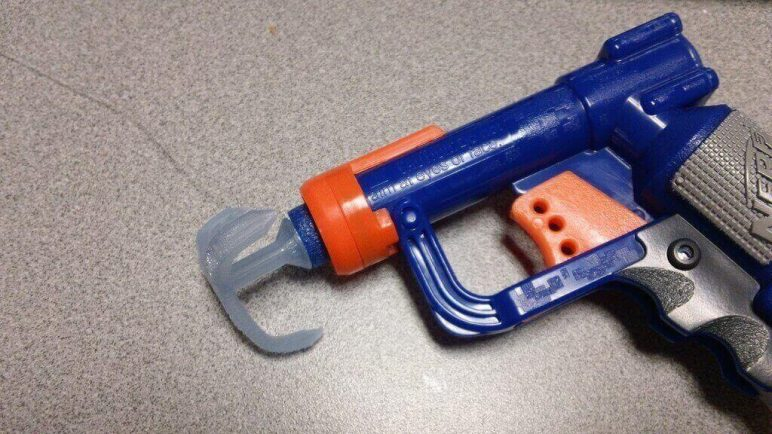 Image of 3D Printed Nerf Gun Parts, Mods & Attachments: Grappling Hook