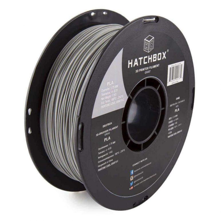 Image of Best Selling 3D Printer Filament on Amazon: HATCHBOX 3D PLA Gray