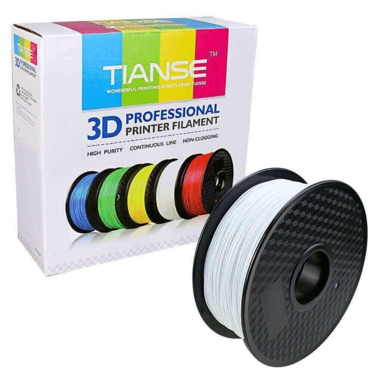Image of Best Selling 3D Printer Filament on Amazon: TIANSE White PLA