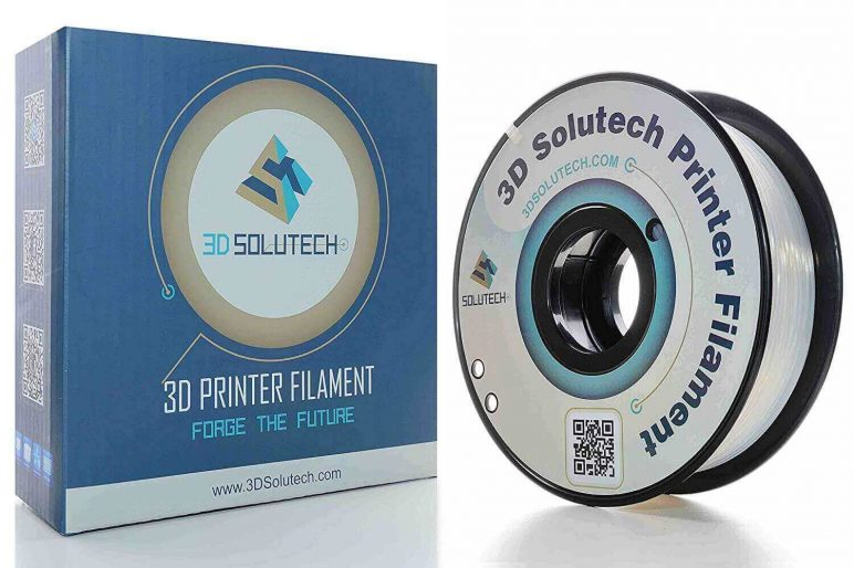 Image of Best Selling 3D Printer Filament on Amazon: 3D Solutech Natural Clear PLA