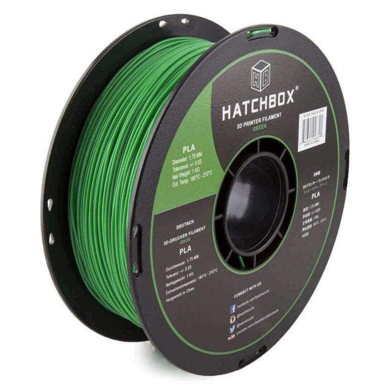 Image of Best Selling 3D Printer Filament on Amazon: HATCHBOX 3D PLA Green