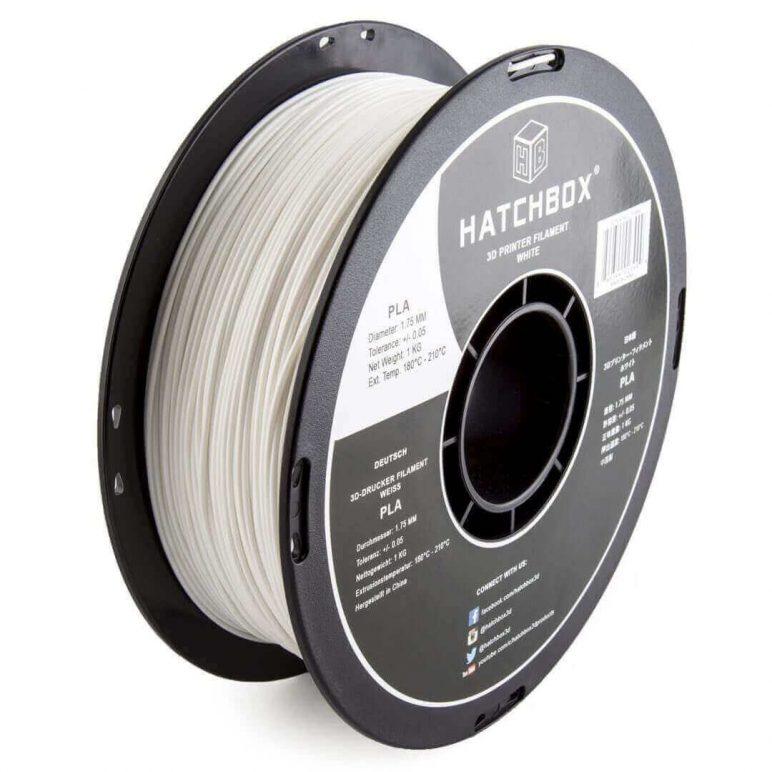 Image of Best Selling 3D Printer Filament on Amazon: HATCHBOX 3D PLA White
