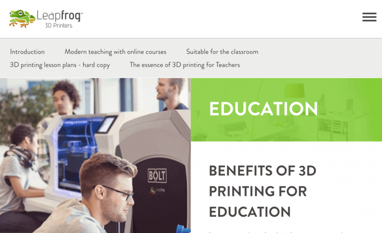 Image of Resources for 3D Printing Classes and Curriculum: Leapfrog