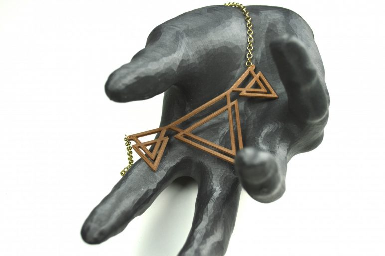 Image of 3D Printed Jewlery: Double Delta