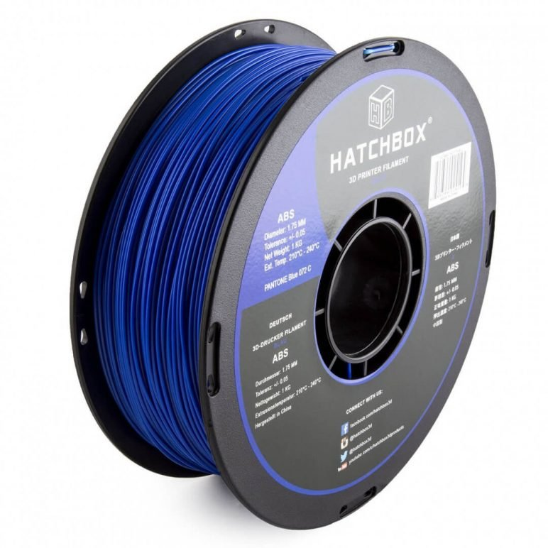 Image of Best Selling 3D Printer Filament on Amazon: HATCHBOX 3D ABS Blue