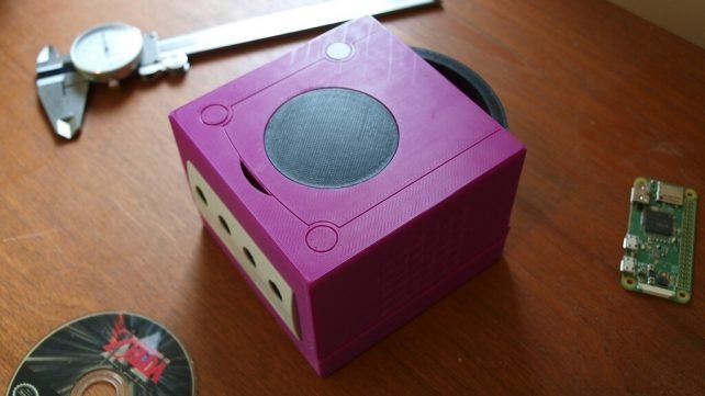 Featured image of Make a GameCube Classic Mini with Raspberry Pi & 3D Printing