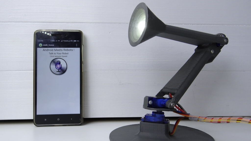 This is a 3D Printed Desk Lamp with Voice Control | All3DP