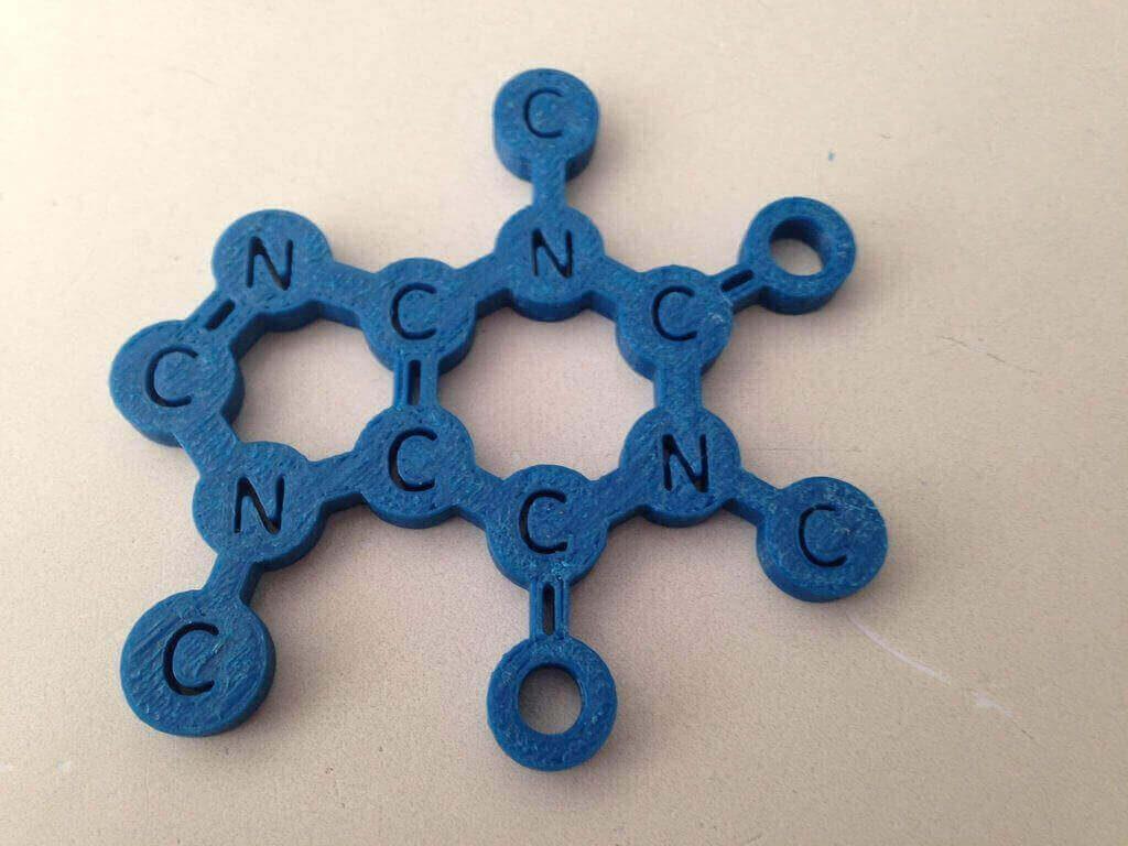 Jerome printed this coffee coaster using 3D printing