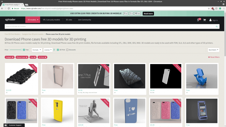 Image of Sources for 3D Printed Phone Cases: CG Trader