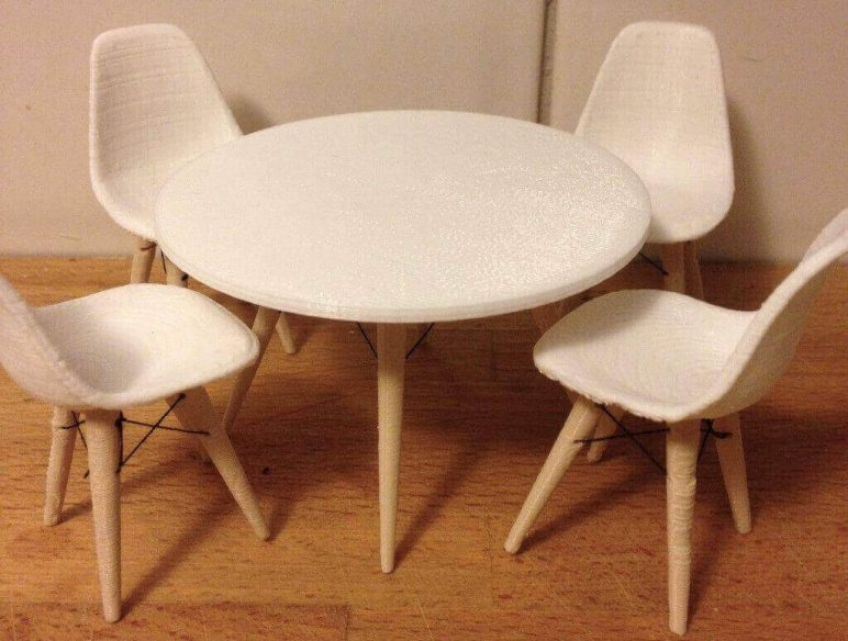 Image of DIY Barbie Accessories: Eames Table and Chairs