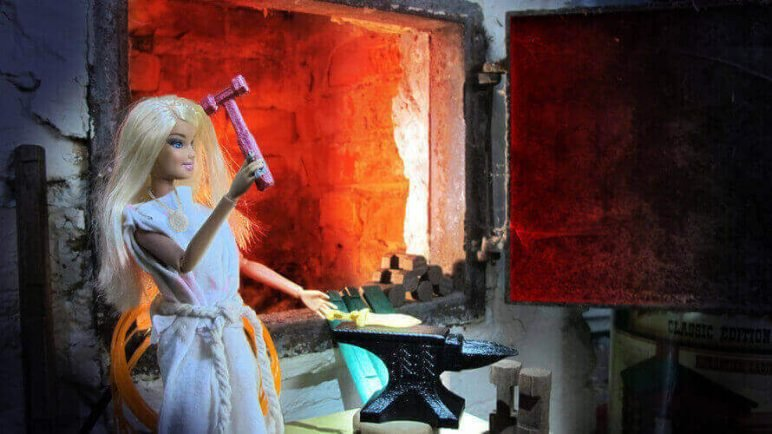 Image of DIY Barbie Accessories: Forge Hammer