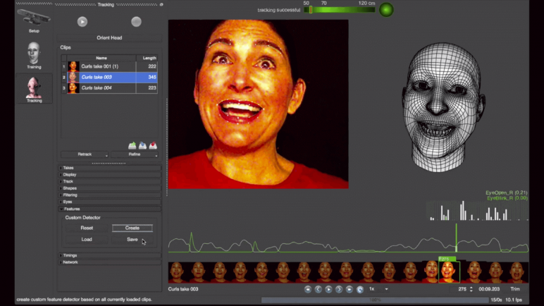 Image of Programas de animación 3D, 2D y stop motion: Faceshift