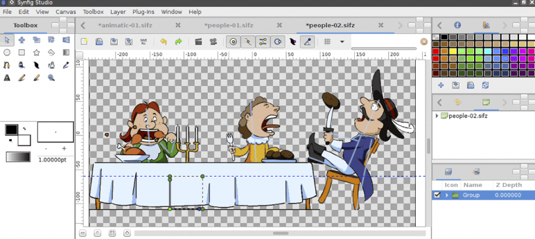 Image of Die besten 2D-Animationsprogramme (2D-Animation-Software): Synfig Studio