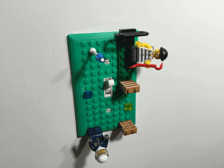 Image of 3D Print Lego: Lego Light Switch Cover
