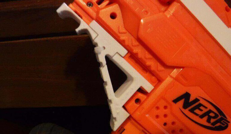 Image of 3D Printed Nerf Gun Parts, Mods & Attachments: Nerf Stryfe Angled Foregrip
