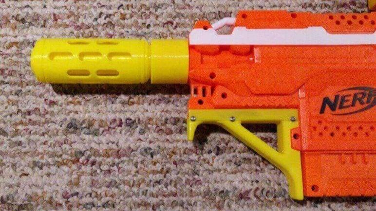 Image of 3D Printed Nerf Gun Parts, Mods & Attachments: Dracogen Barrel Extension