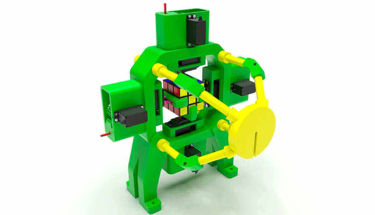This 3D Printed Robot Solves Rubik's Cube in no Time | All3DP