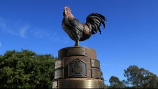 """Featured image of How 3D Printing Helped Create the PGA Tour's """"Reveille the Rooster"""" Trophy"""