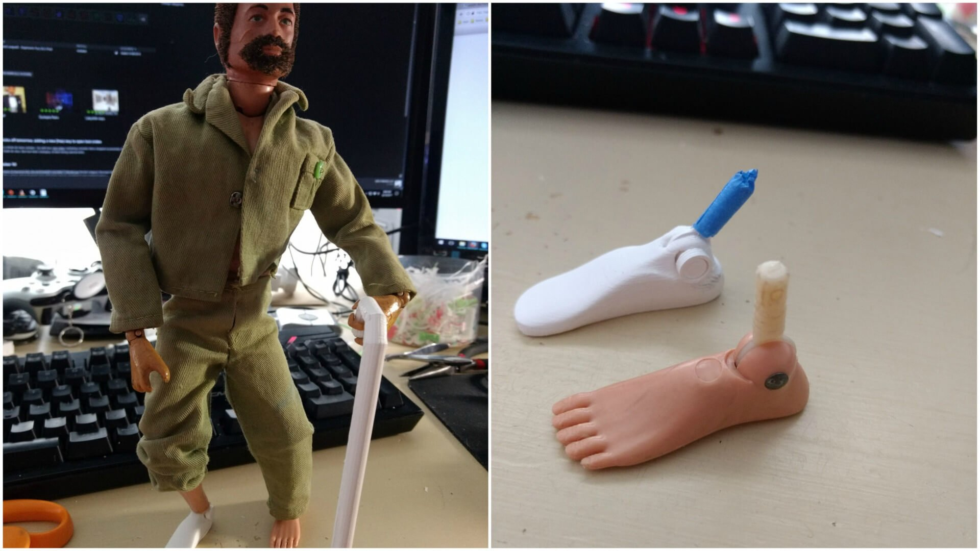 G.I. Joe Receives 3D Printed Prosthetic Foot | All3DP