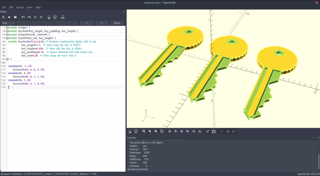 Parametric OpenSCAD File Lets You 3D Print Keys | All3DP