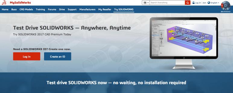 Image of SolidWorks gratuit - Versions d'essai: Version en ligne de SolidWorks