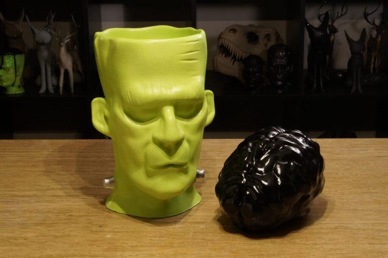 Изображение на Хелоуин от 3D печат: Чудовището на Франкенщайн с подвижен мозък