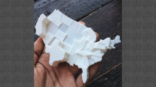 Featured image of 3D Printable Map of the United Stated by Hate Groups