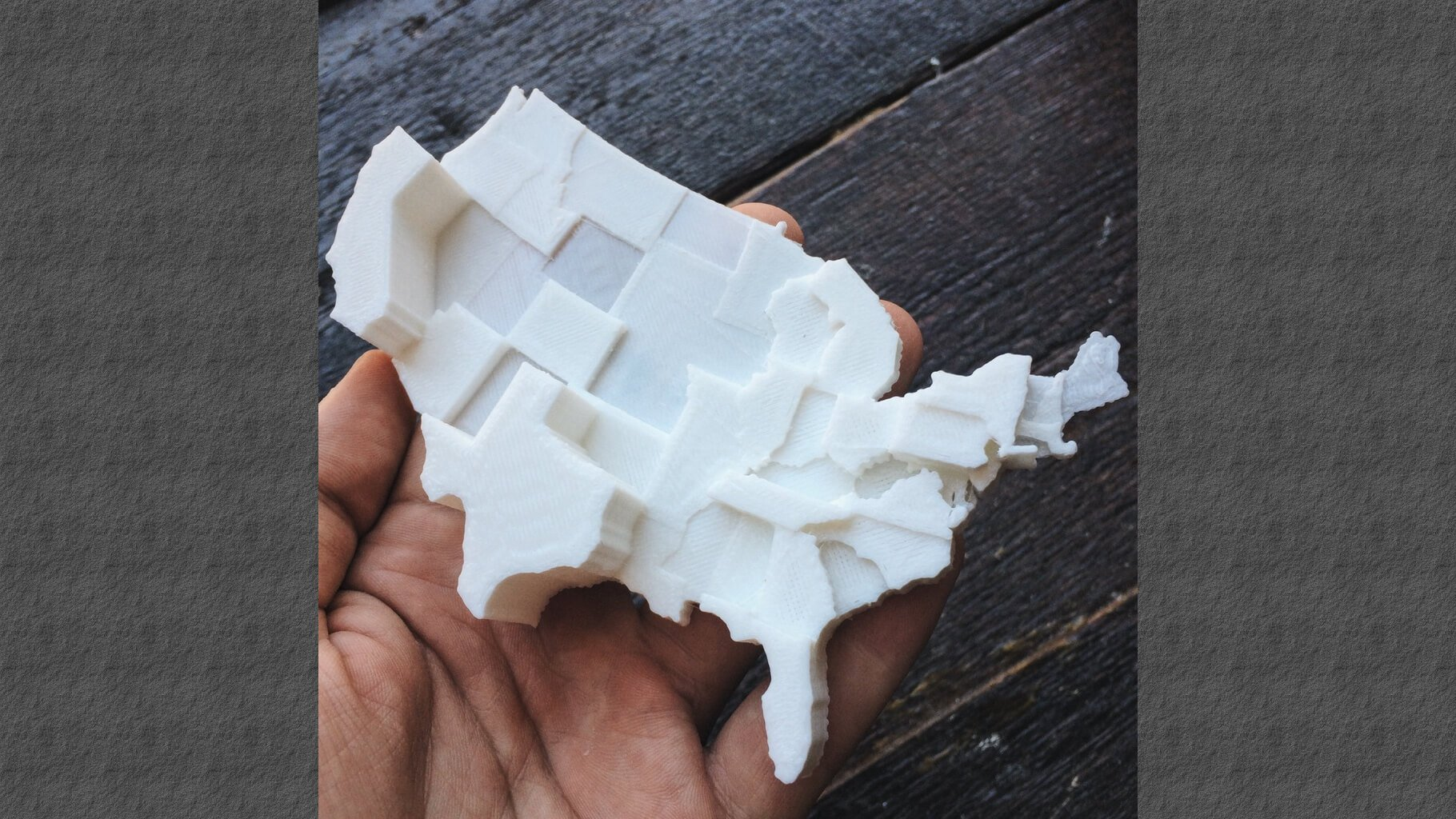 3D Printable Map of the United Stated by Hate Groups | All3DP