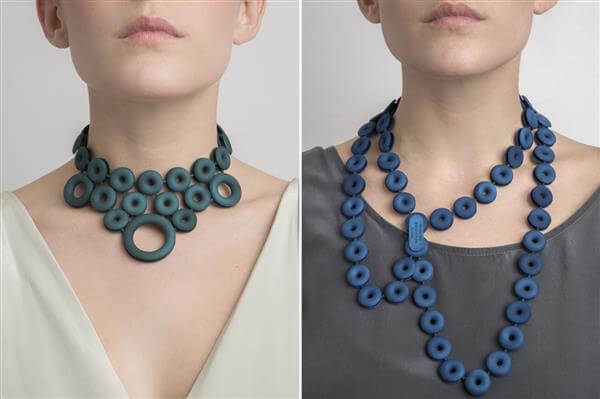 Fashion designers are using 3D printing to print bracelets and necklaces