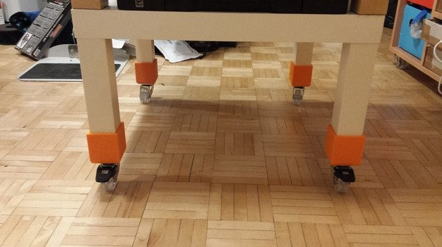 Image of 3D Printing Ideas – 30 Simple IKEA Hacks to 3D Print: LACK Wheels