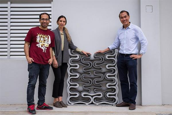 NTU researchers demonstrate a structure made out of the fly ash based 3D printing material