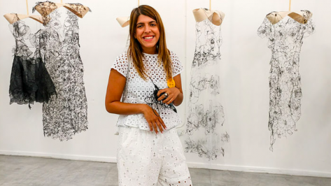 Featured image of Graduate Creates '3D Lace' Couture Collection using a 3Doodler Pen