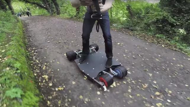 Featured image of Maker Builds BatBoard, A Batman-Themed Electric Skateboard