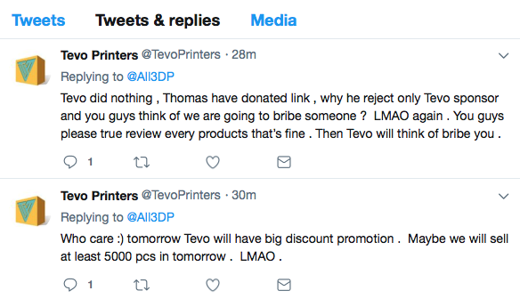 The 3D Printing Community is Angry with TEVO Business Practices | All3DP