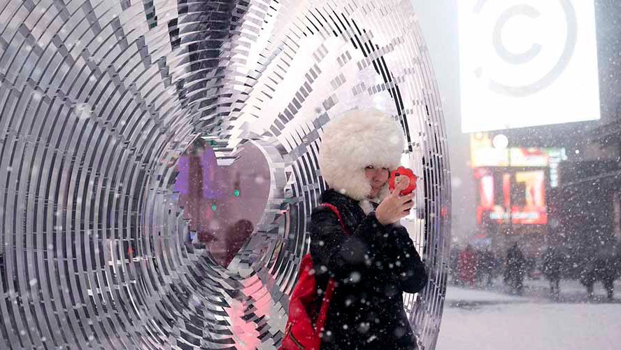 Formlabs 3D Prints Huge Lens for Times Square Valentine Heart | All3DP