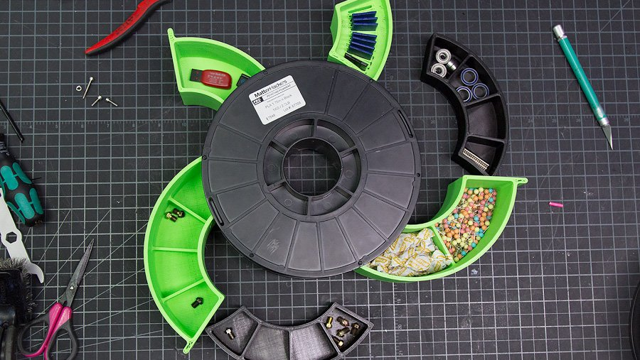 Use Leftover Filament Spools as Tool Drawers with this Nifty Hack | All3DP