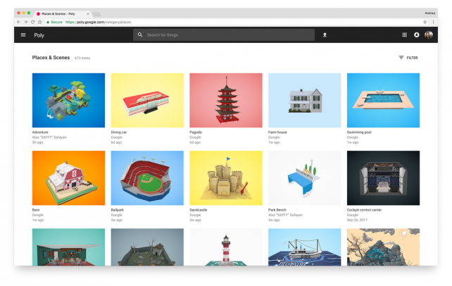 Featured image of Google Launches Poly, a Full-Color 3D Model Library