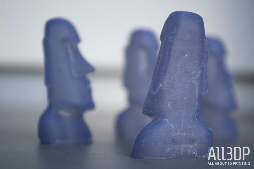 Peopoly Moai test prints Moai Easter Island heads