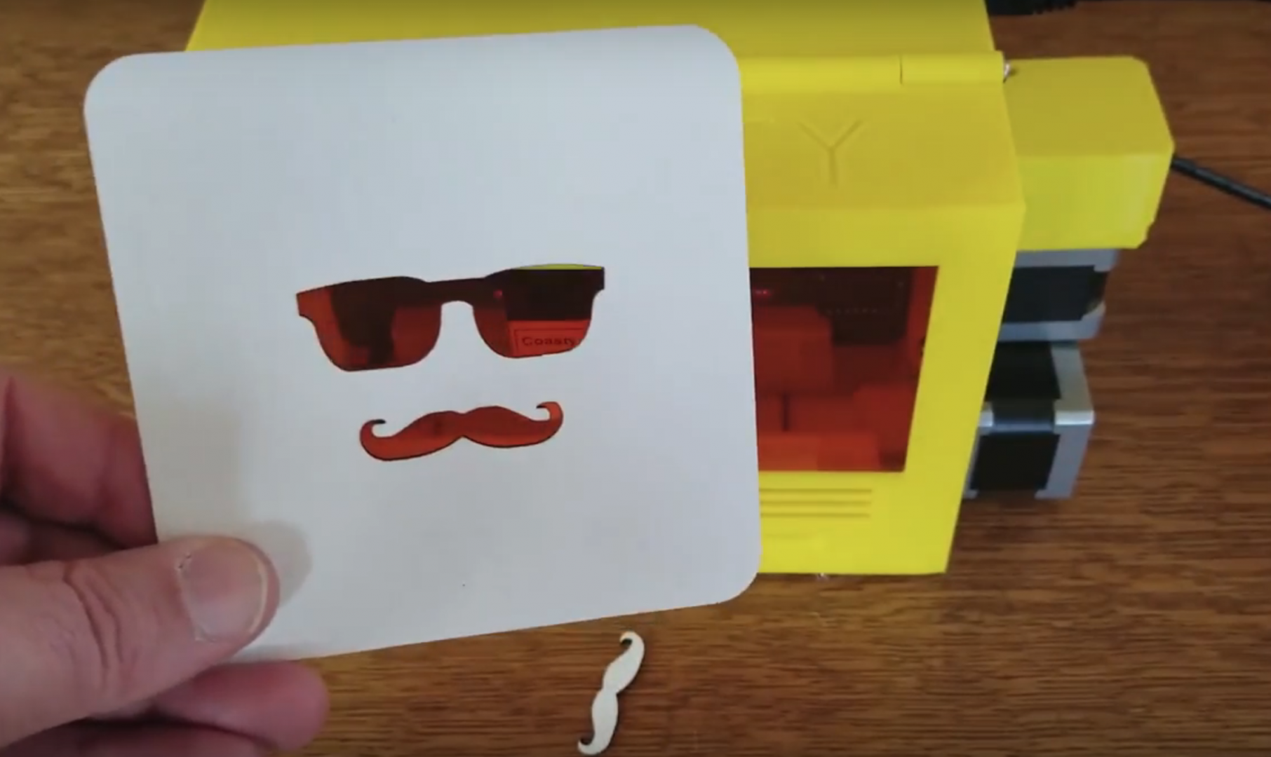 The Coasty Toaster - Laser Cutter for 3D Printed Coasters Gets a Serious Update | All3DP