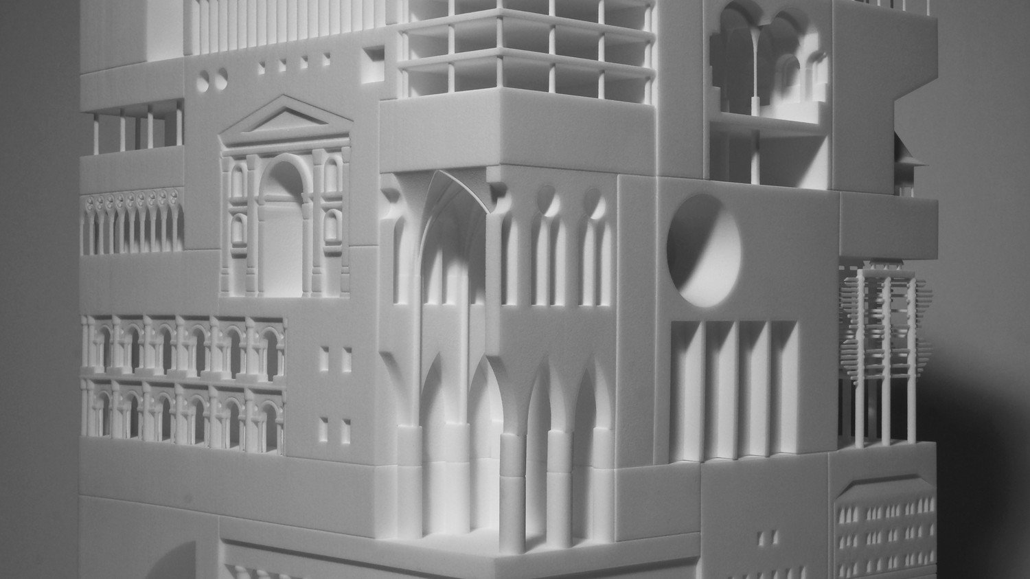 Japanese Architect Fits More Than 30 Iconic Buildings in One 3D Printed Object | All3DP