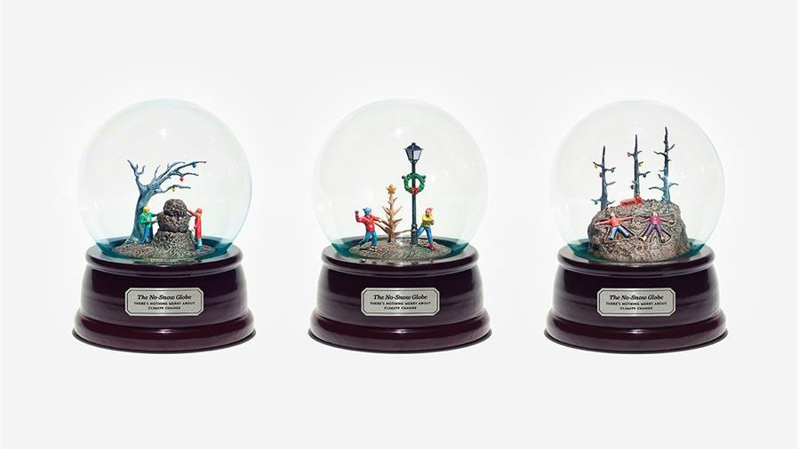 "Climate Change Activists Create 3D Printed ""No-Snow-Globes"" 